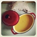Soupe de patates douces, butternut, ail et romarin