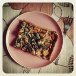 croûte de parmesan, butternut, graines de courges et persil