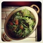 Curry de patates douces et épinards
