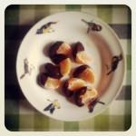 Mandarine et chocolat