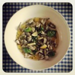 artichauts marinés, basilic, ail et ciboulette