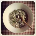 Tapenade de champignons rôtis au chèvre et au thym