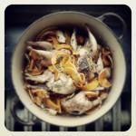 Cailles, butternut, champignons et châtaignes