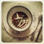Soupe miso, shiitakés et algues