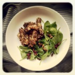 Poulet sucré-salé en croûte de quinoa soufflé