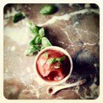 sorbet de fraise et basilic (sans sorbetière)