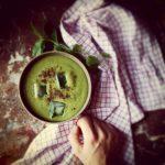 Gaspacho de concombre, avocat et épinard