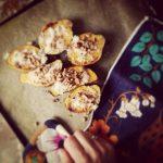 Patates douces rôties au parmesan et aux  noisettes