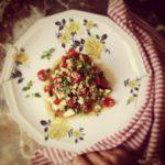 Tartare de tomates, avocat et courgette au sésame et à la citronnelle